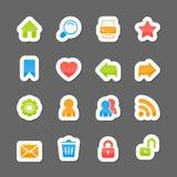 Elementos da relação da disposição do Web site em desenhos animados Foto de Stock Royalty Free