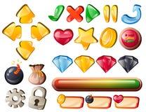 Elementos da relação do jogo da arte para pontos batidos Foto de Stock Royalty Free