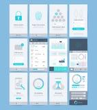 Elementos da relação e do projeto de UI ilustração stock