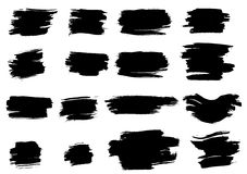 Elementos da tinta de Grunge Fotografia de Stock