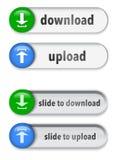 Elementos da Web do slider com sinal da seta Fotografia de Stock