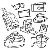 Elementos da viagem do feriado ilustração stock