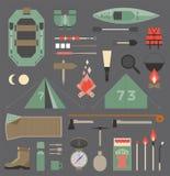 Elementos de acampamento Foto de Stock