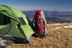 Elementos de acampamento Imagens de Stock