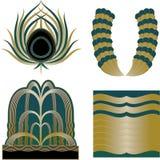 Elementos de Art Deco Logos e do projeto Fotografia de Stock Royalty Free