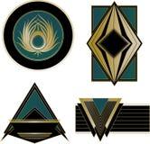 Elementos de Art Deco Logos y del diseño Imagen de archivo