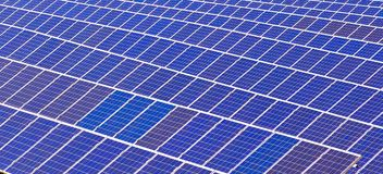 Elementos de baterías solares Imagen de archivo libre de regalías
