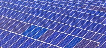 Elementos de baterias solares Imagem de Stock Royalty Free