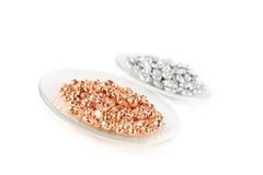 Elementos de cobre e de alumínio Foto de Stock Royalty Free