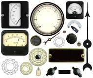 Elementos de control de la instrumentación del vintage aislados Imagen de archivo libre de regalías