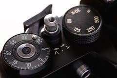 Elementos de controle retros da câmera Fotografia de Stock Royalty Free