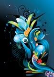 Elementos de cor abstratos dos pássaros Fotos de Stock
