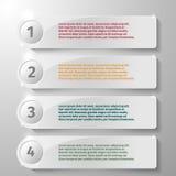 Elementos de cristal del rectángulo para infographic Fotos de archivo libres de regalías