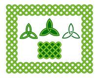 Elementos de estilo celta verdes del marco y del diseño ilustración del vector