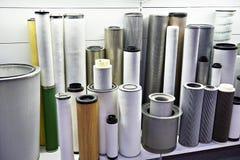 Elementos de filtro para industrial imagem de stock