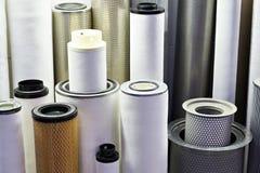 Elementos de filtro para industrial fotografia de stock