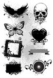 Elementos de Grunge ilustración del vector
