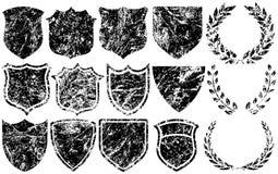 Elementos de Grunge para las insignias Imagen de archivo libre de regalías