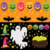 Elementos de Halloween Imagen de archivo libre de regalías
