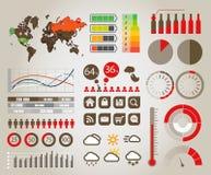 Elementos de Infographic Imagen de archivo libre de regalías