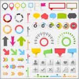 Elementos de Infographic ilustração stock