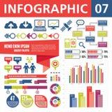 Elementos 07 de Infographic Imagens de Stock