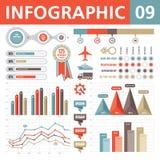 Elementos 09 de Infographic Fotografía de archivo libre de regalías