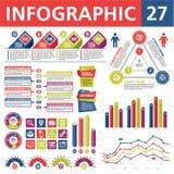 Elementos 27 de Infographic Fotografía de archivo libre de regalías