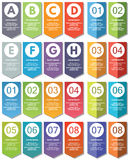 Elementos de Infographic #21 Fotos de archivo libres de regalías