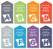 Elementos de Infographic Fotografía de archivo libre de regalías
