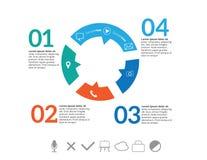 Elementos de Infographic Fotografia de Stock Royalty Free