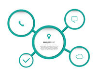 Elementos de Infographic Imagem de Stock Royalty Free