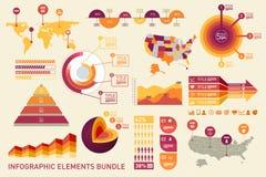 Elementos de Infographic Imagens de Stock