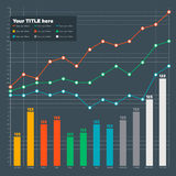 Elementos de Infographic - barra e linha carta Foto de Stock Royalty Free