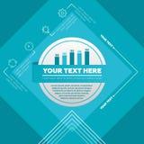 Elementos de Infographic - carta e ícones de barra Imagem de Stock