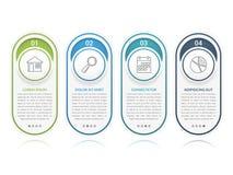 Elementos de Infographic com números Foto de Stock Royalty Free