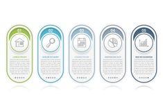Elementos de Infographic com números Fotografia de Stock Royalty Free