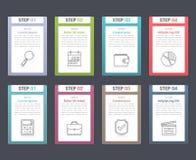Elementos de Infographic con números Imagen de archivo