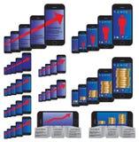 Elementos de Infographic con un smartphone Imagen de archivo
