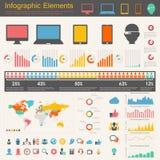 Elementos de Infographic da indústria das Tecnologias de Informação Foto de Stock Royalty Free