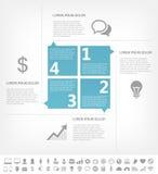 Elementos de Infographic da indústria das Tecnologias de Informação Fotografia de Stock Royalty Free