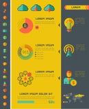 Elementos de Infographic da indústria das Tecnologias de Informação Fotos de Stock