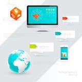 Elementos de Infographic da indústria das Tecnologias de Informação Foto de Stock