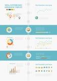 Elementos de Infographic da tecnologia Foto de Stock