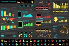 Elementos de Infographic de la industria de IT Imagen de archivo