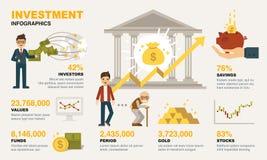 Elementos de Infographic de la inversión libre illustration