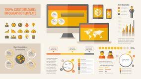 Elementos de Infographic de la tecnología Fotografía de archivo libre de regalías
