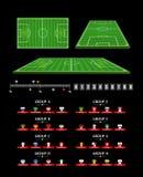 Elementos de Infographic del balompié Estadísticas del partido de fútbol ilustración del vector