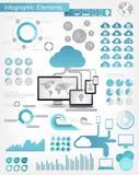 Elementos de Infographic del servicio de la nube Fotos de archivo libres de regalías
