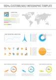 Elementos de Infographic del viaje Imagen de archivo libre de regalías
